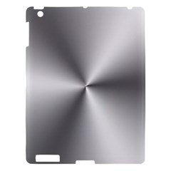 Shiny Metallic Silver Apple iPad 3/4 Hardshell Case