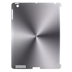Shiny Metallic Silver Apple iPad 3/4 Hardshell Case (Compatible with Smart Cover)