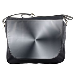 Shiny Metallic Silver Messenger Bags