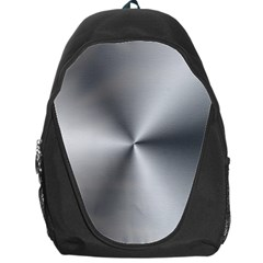 Shiny Metallic Silver Backpack Bag