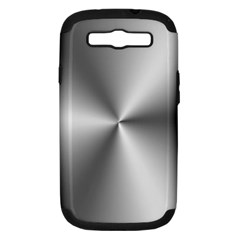 Shiny Metallic Silver Samsung Galaxy S III Hardshell Case (PC+Silicone)