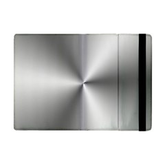 Shiny Metallic Silver Apple iPad Mini Flip Case