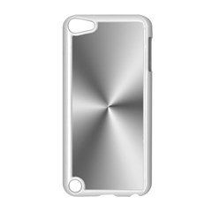 Shiny Metallic Silver Apple iPod Touch 5 Case (White)