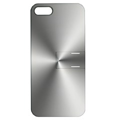 Shiny Metallic Silver Apple iPhone 5 Hardshell Case with Stand