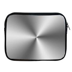 Shiny Metallic Silver Apple iPad 2/3/4 Zipper Cases