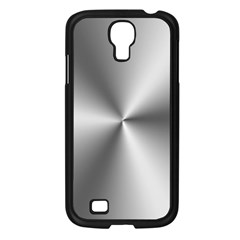 Shiny Metallic Silver Samsung Galaxy S4 I9500/ I9505 Case (Black)