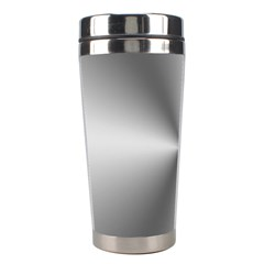 Shiny Metallic Silver Stainless Steel Travel Tumblers
