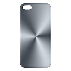 Shiny Metallic Silver iPhone 5S/ SE Premium Hardshell Case