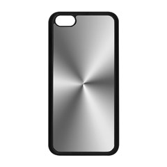Shiny Metallic Silver Apple iPhone 5C Seamless Case (Black)