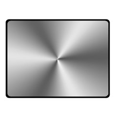 Shiny Metallic Silver Double Sided Fleece Blanket (Small)