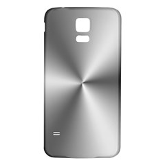 Shiny Metallic Silver Samsung Galaxy S5 Back Case (White)