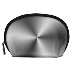 Shiny Metallic Silver Accessory Pouches (Large)