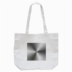Shiny Metallic Silver Tote Bag (White)