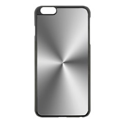 Shiny Metallic Silver Apple iPhone 6 Plus/6S Plus Black Enamel Case