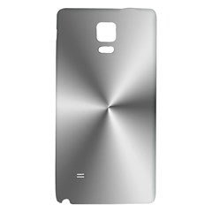 Shiny Metallic Silver Galaxy Note 4 Back Case