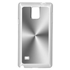 Shiny Metallic Silver Samsung Galaxy Note 4 Case (White)