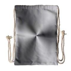 Shiny Metallic Silver Drawstring Bag (Large)
