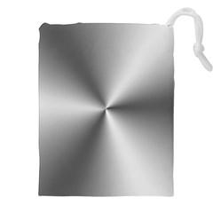 Shiny Metallic Silver Drawstring Pouches (XXL)