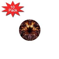 Golden Metallic Abstract Flower 1  Mini Buttons (10 pack)