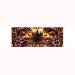 Golden Metallic Abstract Flower Large Bar Mats