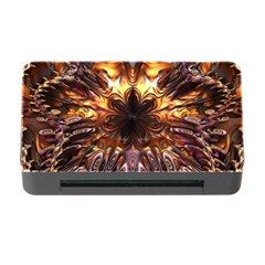 Golden Metallic Abstract Flower Memory Card Reader With Cf