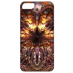 Golden Metallic Abstract Flower Apple Iphone 5 Classic Hardshell Case