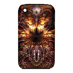 Golden Metallic Abstract Flower Apple Iphone 3g/3gs Hardshell Case (pc+silicone)