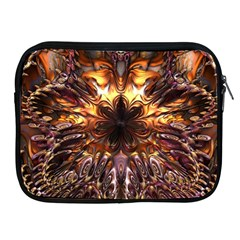 Golden Metallic Abstract Flower Apple Ipad 2/3/4 Zipper Cases