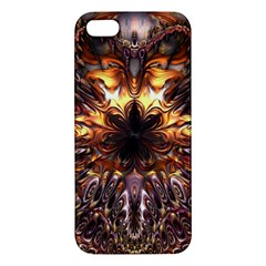 Golden Metallic Abstract Flower Iphone 5s/ Se Premium Hardshell Case