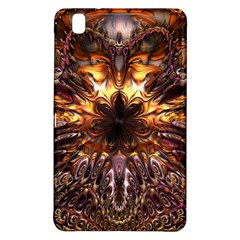 Golden Metallic Abstract Flower Samsung Galaxy Tab Pro 8 4 Hardshell Case