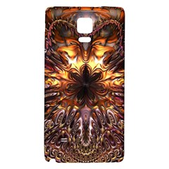 Golden Metallic Abstract Flower Galaxy Note 4 Back Case