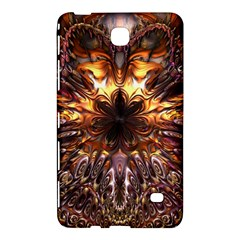 Golden Metallic Abstract Flower Samsung Galaxy Tab 4 (8 ) Hardshell Case