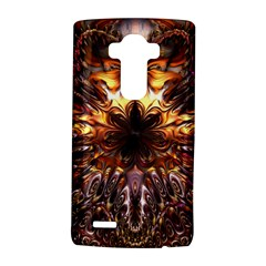 Golden Metallic Abstract Flower LG G4 Hardshell Case