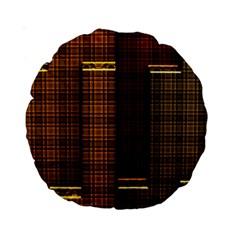 Metallic Geometric Abstract Urban Industrial Futuristic Modern Digital Art Standard 15  Premium Round Cushions