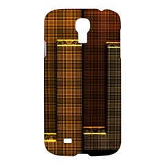 Metallic Geometric Abstract Urban Industrial Futuristic Modern Digital Art Samsung Galaxy S4 I9500/I9505 Hardshell Case