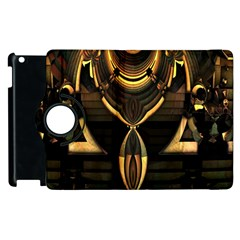 Golden Metallic Geometric Abstract Modern Art Apple iPad 2 Flip 360 Case