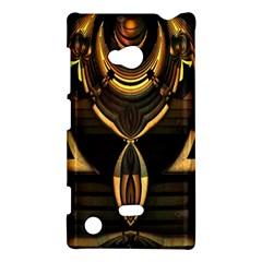Golden Metallic Geometric Abstract Modern Art Nokia Lumia 720 Hardshell Case