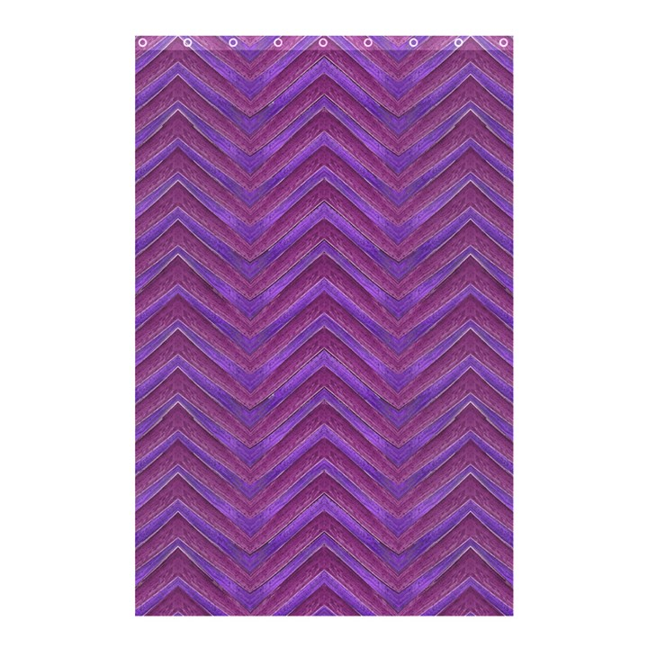 Grunge Chevron Style Shower Curtain 48  x 72  (Small)
