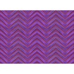 Grunge Chevron Style Clover 3D Greeting Card (7x5)  Front