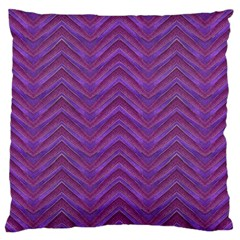 Grunge Chevron Style Large Flano Cushion Case (Two Sides)