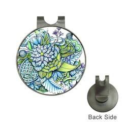 Peaceful Flower Garden 1 Golf Ball Marker Hat Clip