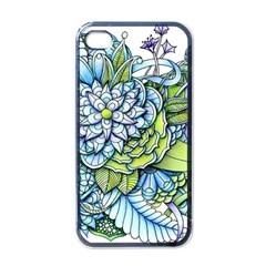 Peaceful Flower Garden 1 Apple iPhone 4 Case (Black)
