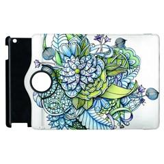 Peaceful Flower Garden 1 Apple iPad 2 Flip 360 Case