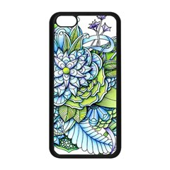 Peaceful Flower Garden 1 Apple iPhone 5C Seamless Case (Black)