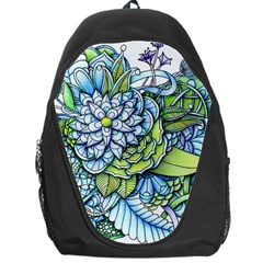 Turquoise Damask Pattern Backpack Bag