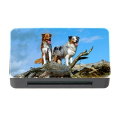 2 Australian Shepherds Memory Card Reader with CF
