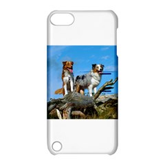 2 Australian Shepherds Apple iPod Touch 5 Hardshell Case with Stand