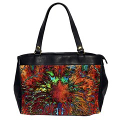 Boho Bohemian Hippie Floral Abstract Office Handbags (2 Sides)