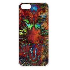 Boho Bohemian Hippie Floral Abstract Apple Iphone 5 Seamless Case (white)