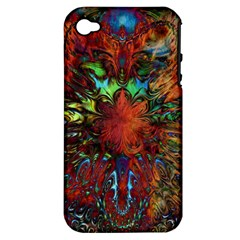 Boho Bohemian Hippie Floral Abstract Apple iPhone 4/4S Hardshell Case (PC+Silicone)